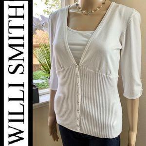 Willi Smith women's white sweater, size medium